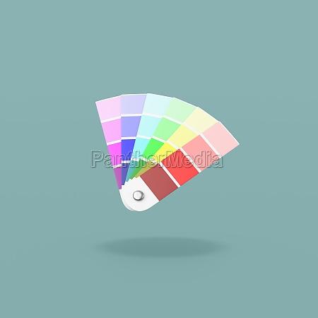 amostrador de cores pantone no fundo