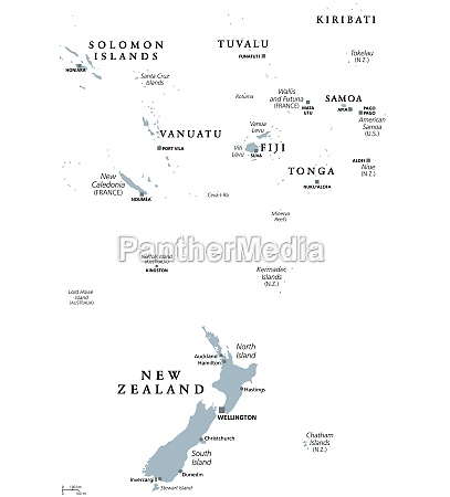 polinesia mapa politica sul pacifico oceano