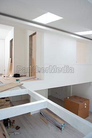 interior de apartamento de dois andares