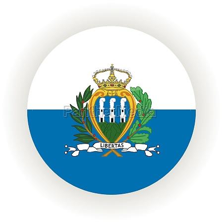 san, marino, icon, circle - 29935247