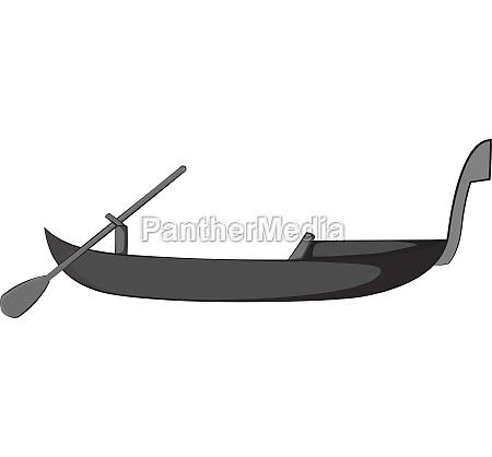 Icone da gondola estilo monocromatico cinza