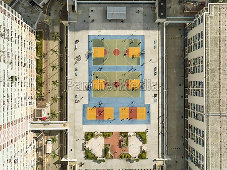 aerial, view, of, basketball, courts, in - 30150014