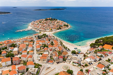 vista aerea de primosten dalmacia croacia