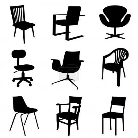 Grupo, cadeiras, Vector, plano de fundo, objeto, elemento - B10546513