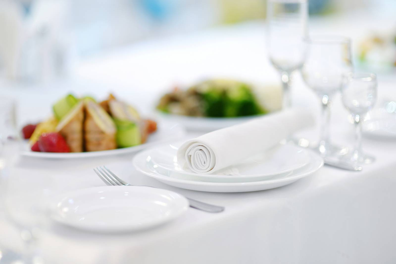 white, dinner, tablecloth, decoration, meal, table - D32050018