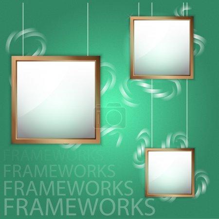 verde, Imagem, vetor, Contexto, pintura, decoração - B21586795