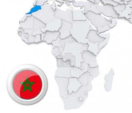 Contexto, bandeira, mapa, África, Argélia, Egipto - B28738123