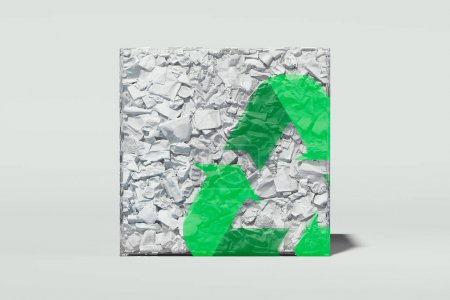 verde triangulo branco elemento projeto isolados