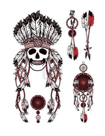 Vector, ilustração, etnia, cabeça, velho, retrô - B99948912