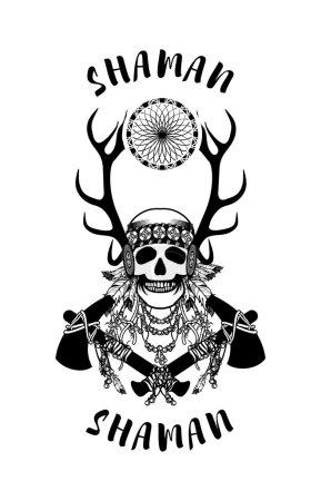 Vector, ilustração, etnia, cabeça, velho, retrô - B94512896