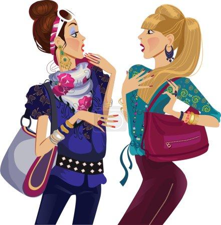 Grupo, Vetor, colorido, ilustração, projeto, saco - B52198615