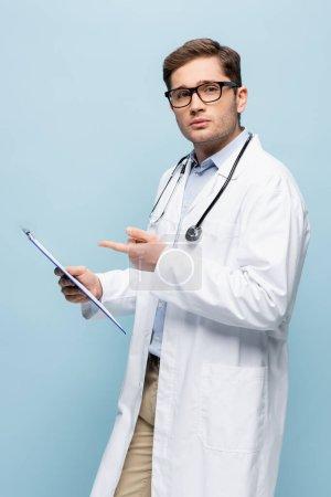 Azul, Isolados, jovem, Caucasiano, Medicina, cuidados de saúde - B455913884