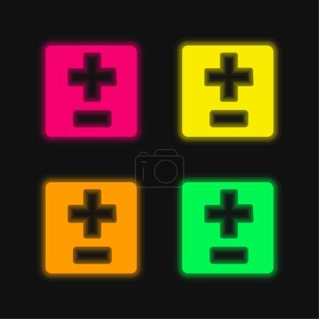 verde, Vermelho, Amarelo, vetor, ícone, noite - B470868736